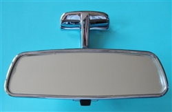 New chrome inside rearview mirror for mercedes 230sl for Mercedes benz rear view mirror replacement